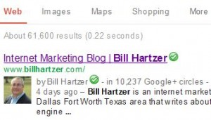 Example of Google Authorship